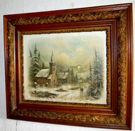 17071 Oak Victorian Picture Frame with Chandler Print – Church