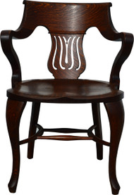 17112 Oak Fancy Office Arm Chair