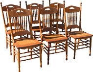 17158 Set of Six Press Back Dining Chairs