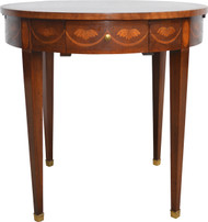 17095 Inlaid Occasional Serving Table Mahogany by Baker