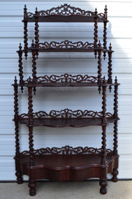 SOLD Early Victorian What Not Carved Shelf