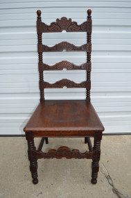 SOLD Carved Gentleman's Oak Desk Chair