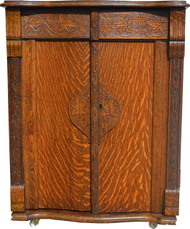 17161 Oak Turn of the Century Cabinet Bar