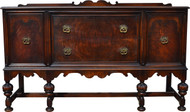 17167 Burl Walnut Buffet – 1930s