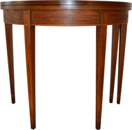 17091 Mahogany Inlaid Hepplewhite Game Table