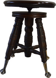 SOLD Victorian Oak Ball and Claw Piano Stool