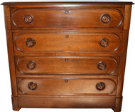 SOLD Antique  Victorian Five Drawer Refinished Walnut Chest
