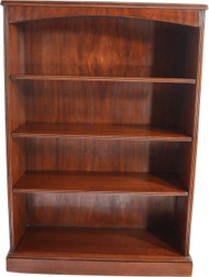 SOLD Mahogany Open Refinished Triple Shelf Bookcase