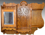 SOLD Oak Carved Victorian Medicine Cabinet / What Not Shelf