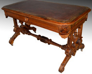 SOLD Renaissance Revival Library Writing Table