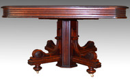 17206 Burl Victorian Banquet Table with Leaves