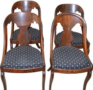 17244 Set of 4 Flame Mahogany Period Empire Chairs