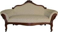 17266 Victorian Grape Back Carved Sofa – Civil War Era