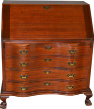 17293 Mahogany Chippendale Ball and Claw Slant Top Desk by Maddox