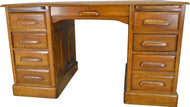 17212 Oak Lawyer's Banker's Raised Panel Desk