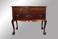 16465 Antique Mahogany Chippendale Ball and Claw Lowboy
