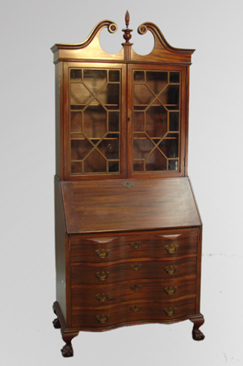 Sold Mahogany Governor Winthrop Desk By Maddox Maine