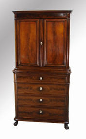 17021 Biedermeier Linen Chest Cupboard