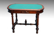 16627 Walnut Victorian Library Table Writing Desk