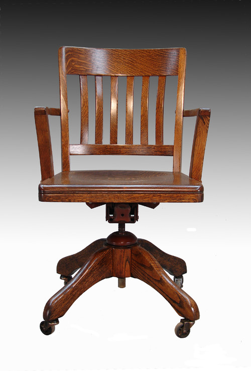 Sold Tiger Oak Lawyer S Swivel Office Chair Maine