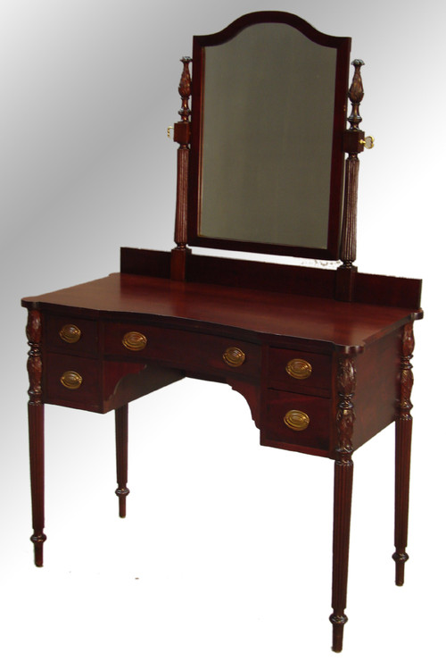 ... SOLD Antique Mahogany Sheraton Lady's Vanity – Cookie Corner. Image 1 - SOLD Antique Mahogany Sheraton Lady's Vanity – Cookie Corner - Maine