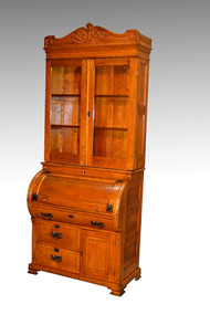 17506 Oak Cylinder Secretary Desk **REDUCED PRICE**