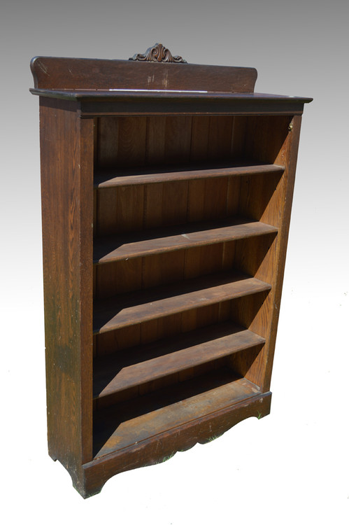 Image 1 - SOLD Antique #6 Larkin Solid Oak Bookcase - Maine Antique Furniture