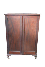18110 Mahogany Two Door Chiffonier Multi-Drawers