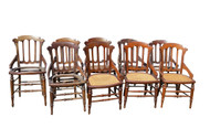 18120 Set of 9 Victorian Walnut Dining Chairs **REDUCED PRICE**