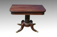 18121 Antique Federal Mahogany Game Card Table **REDUCED PRICE**