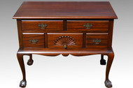 18109 Mahogany Chippendale Ball and Claw Lowboy **REDUCED PRICE**