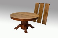 SOLD Monumental Antique Oak Carved Banquet Dining Table **REDUCED PRICE**