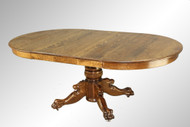 SOLD Antique Round Oak Claw Foot Lion Head Dining Table