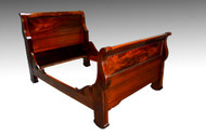 16527  Vintage Mahogany Empire Sleigh Bed