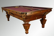 16779 Antique Victorian Rosewood and Walnut Brunswick Billiard Pool Table-1890's *REDUCED PRICE*