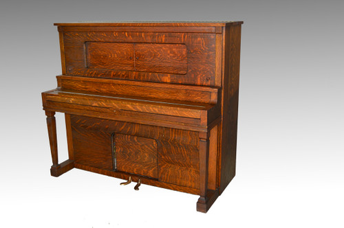 Image 1 - SOLD Antique Victorian Oak Player Piano By Aeolian Company - Maine