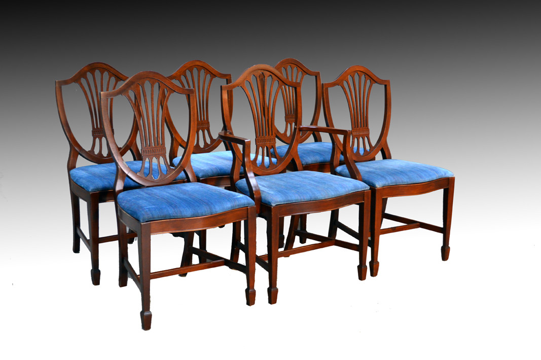 Set Of  Formal Dining Room Chairs And Hepplewhite