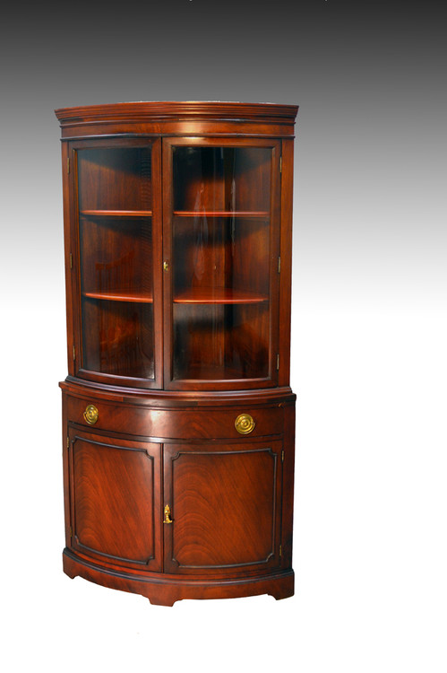 ... Duncan Phyfe Corner China Cabinet Closet. Image 1