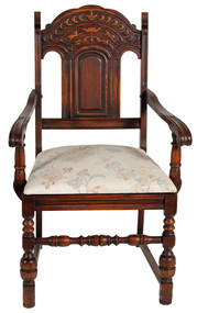SOLD Set of 6 Oak Heavily Carved Dining Chairs **REDUCED PRICE**