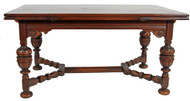 SOLD Oak Jacobean Draw Leaf Dining or Computer Table **REDUCED PRICE**