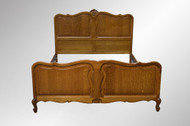 SOLD French Victorian Raised Panel Carved Full Size Bed