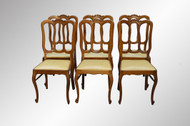 SOLD Set of 6 Solid Oak Carved French Dining Chairs