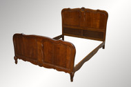 16905 Carved Oak Raised Panel French Bed