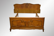 SOLD French Carved Oak Bed **REDUCED PRICE**