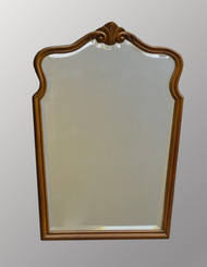 SOLD Carved Shapely Victorian Oak Wall Mirror