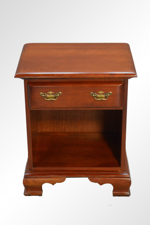 Sold cherry chippendale one drawer night stand reduced for Night stand cost