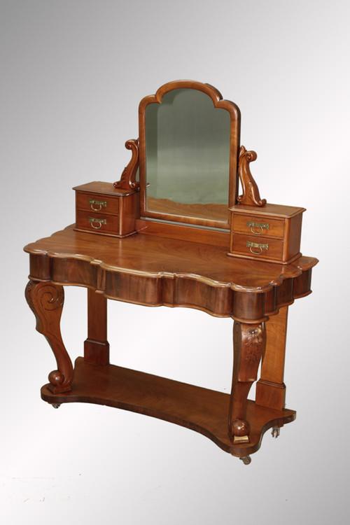 ... SOLD Antique Mahogany Victorian Vanity. Image 1 - SOLD Antique Mahogany Victorian Vanity - Maine Antique Furniture