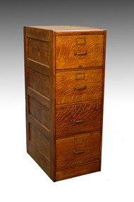 SOLD Oak Legal Four Drawer Lawyers File Cabinet