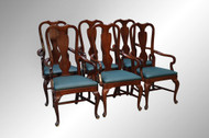 16920A Set of 6 Dining Room Arm Chairs – fit under table top skirts!