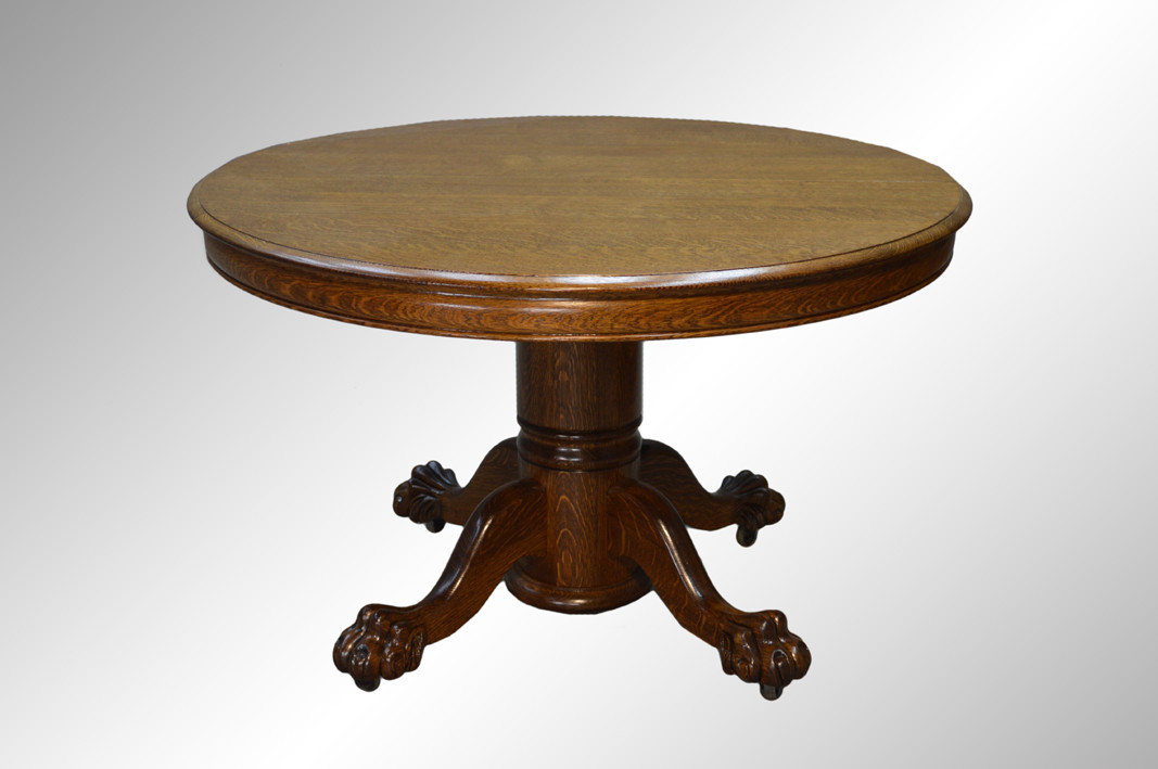 Sold antique round oak claw foot dining table 4 feet 2 for 6 foot round dining table